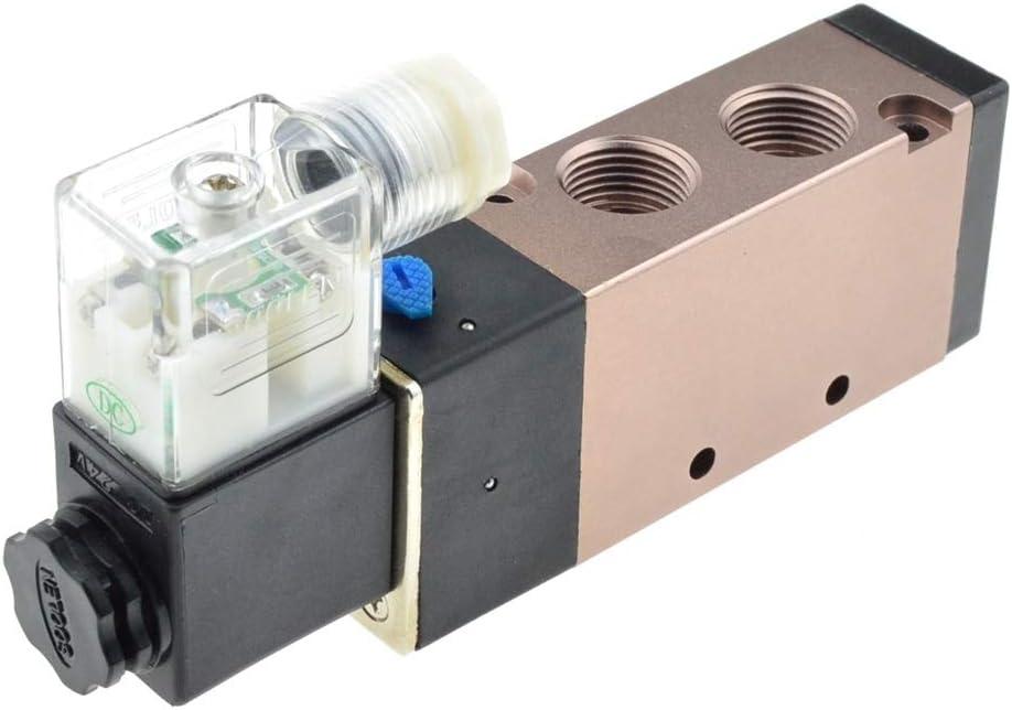 Color : 12mm, Size : DC 12V 1pc Pneumatic Solenoid Valve 5 Port 5 Way 2 Position 8mm 10mm 12mm Hose Connect Electric Control Air Gas Magnetic Valve 12V 24V 220V WSF-Adapters