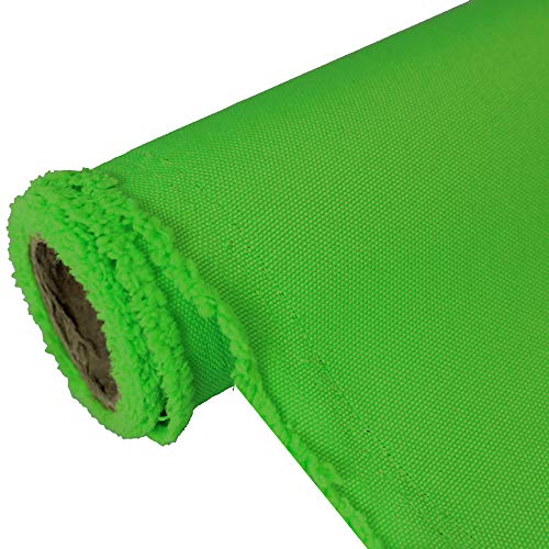 Oxford Neon Lime canvas Fabric Water Resistant Outdoor 600 Denier Indoor/Outdoor Fabric by the yard PU Backing UV Protector Fabric by the yard ()