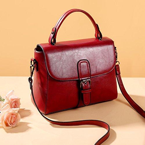 un sac à rouge sauvage seul postier retro Le sac un petits main emballages est sac d'épaule Burenqi Paquet femelle sac simple AgqZw8Tx