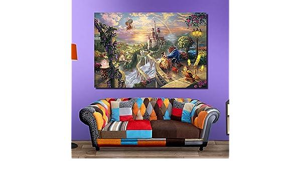 jzxjzx Sala de Estar Pintura Decorativa sin Marco Dormitorio hogar ...