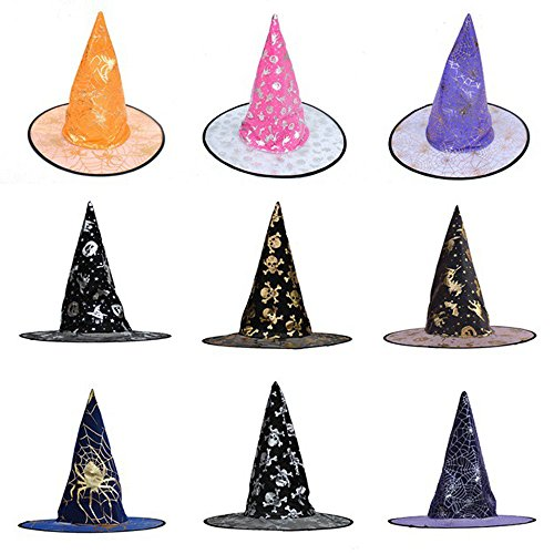 Halloween Costume Accessory Witch Hat for Women Men Cosplay Party Carnivals Cap -