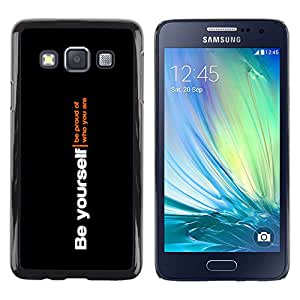 Caucho caso de Shell duro de la cubierta de accesorios de protección BY RAYDREAMMM - Samsung Galaxy A3 - Se tu mismo