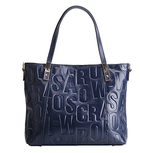 LF en cuir à Sac main épaule Sac bandoulière femme main Sac Sac DISSA 1832 Bleu portés portés fashion dxFwHdYq