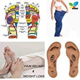 STCORPS7 Slim Fast Acupressure Slimming Insoles Pad Foot Massager Magnetic Massage Insole Foot Cushion Therapy Weight Loss 24cm (Women)