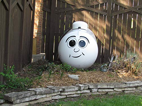CECILIAPATER Dress up Your Boring Propane Tank with Our Funny Face Quality Vinyl Decal Sticker by CECILIAPATER