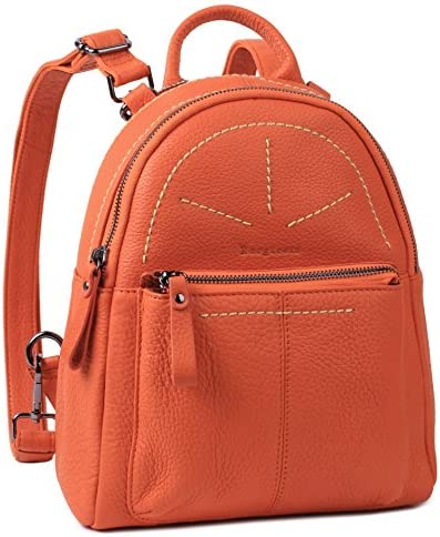 Borgasets Women's Leather Backpack Daypack Travel Bag Multi-function Bag