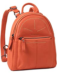 Borgasets Womens Leather Backpack Daypack Travel Bag Multi-function Bags