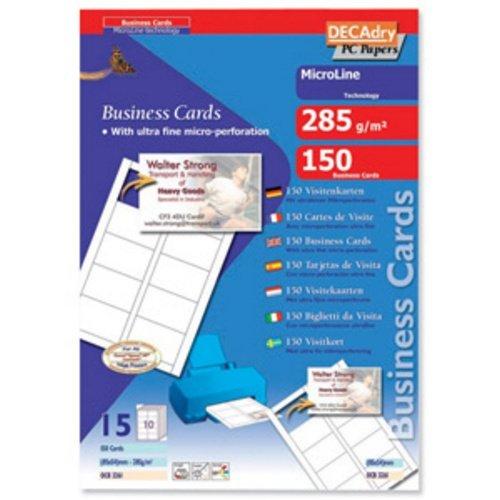 Biglietti da visita Decadry-laser/inkjet-microperf.-angoli vivi-fronte/retro-285g- OCB3261-S (conf.150) Apli