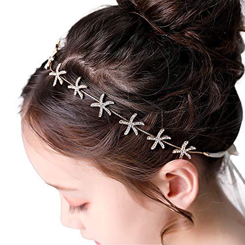 First Communion Hairstyles For Girls - Flower Girl Tiara Starfish Headband Bridal