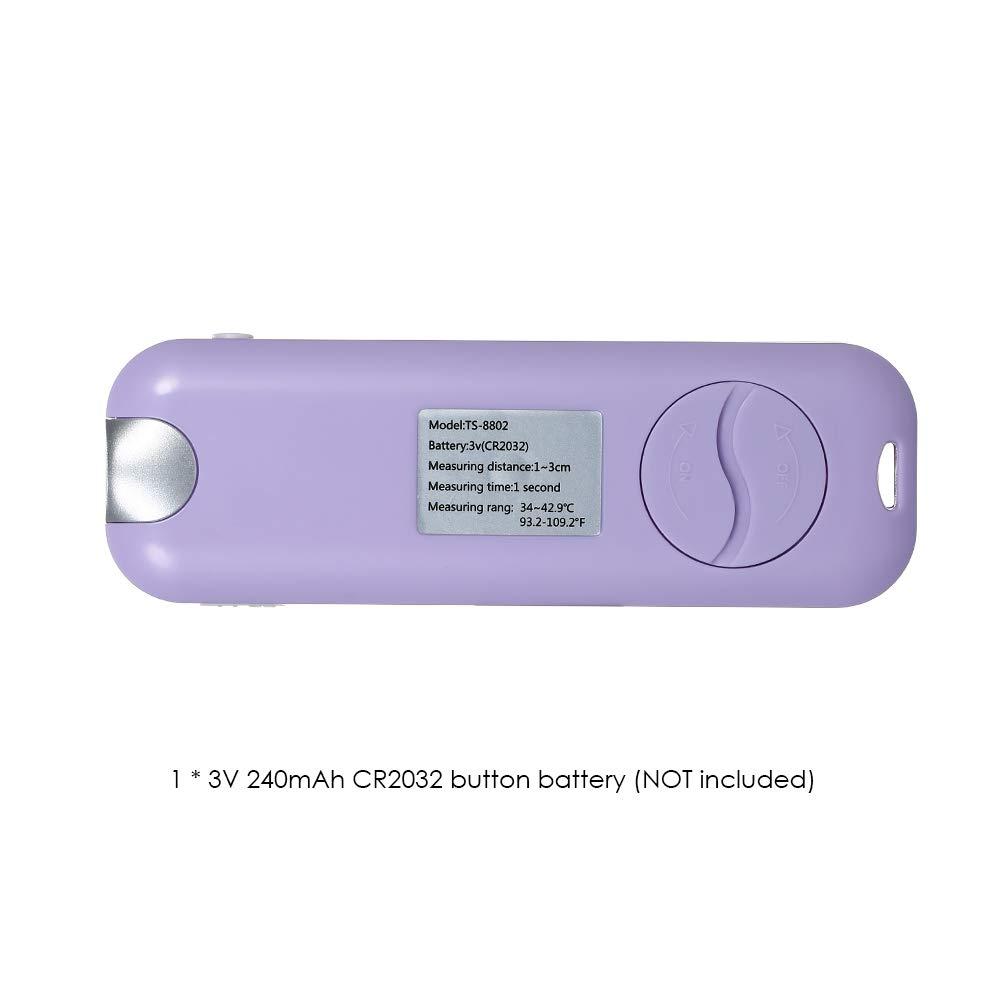 Docooler Port/átil 2 en 1 Infrarrojo infrarrojo sin contacto Objeto Term/ómetro Port/átil Retroiluminaci/ón digital LCD Medidor de temperatura para medir la frente Leche de beb/é con correa