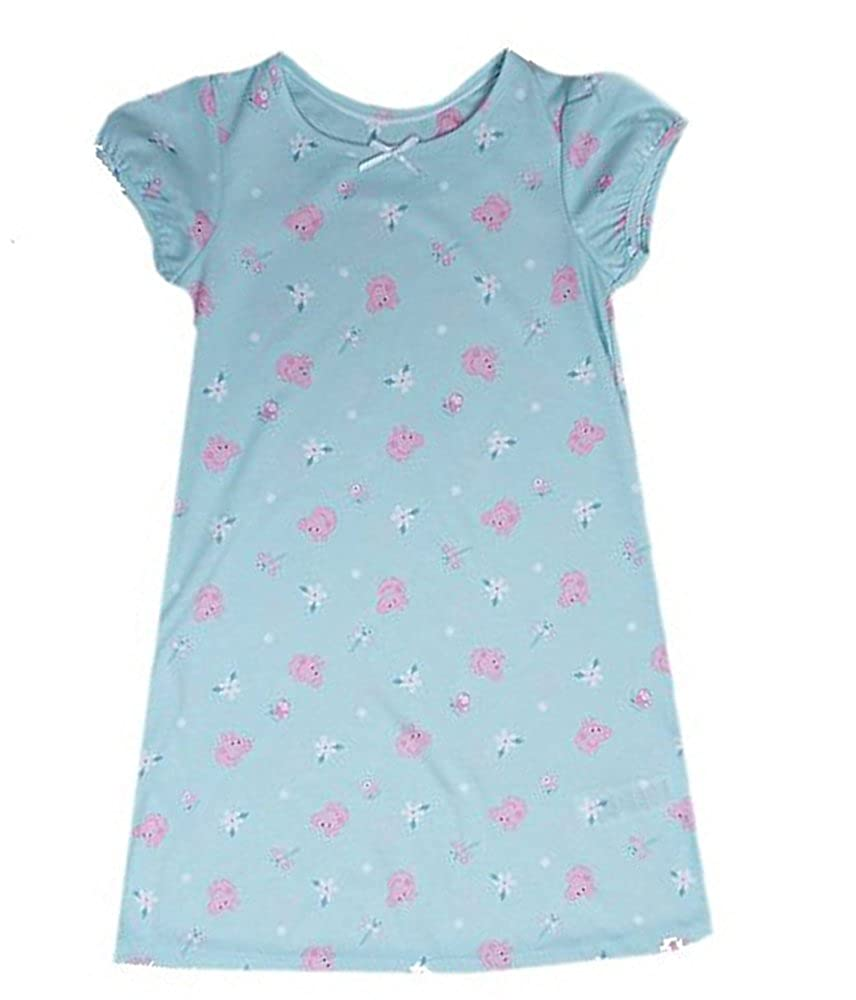 Brand New Ex High Street Store Peppa Pig Flower Design Mint Short Sleeved Nightie Nightdress 18 Months - 7 Years