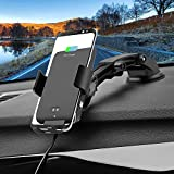 Wireless Car Charger Mount, LEXONIX Voice Activated Charging Car Phone Holder Air Vent and Dashboard Compatible with Samsung Galaxy S10 /S10+/ S9/ S9+/ S8/ S8+, iPhone X/Xs Max/XR/X / 8/8 Plus