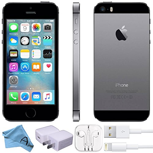 Apple iPhone 5s Factory Unlocked GSM 4G LTE Smartphone (Certified Refurbished) (Space Grey, 32)