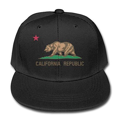 black-california-republic-children-adjustable-snapback-baseball-caps