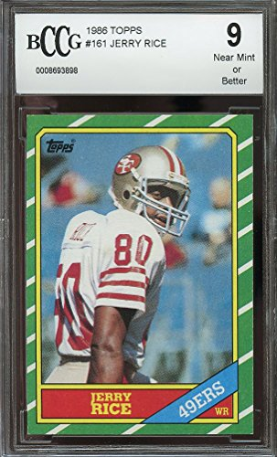 1986 topps #161 JERRY RICE san francisco 49ers rookie card BGS BCCG 9 Graded Card (1986 Rookie Card)