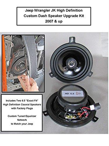 - Jeep Wrangler JK Premium High Definition Front/Dash Upgrade Speaker Kit for 2007-2018