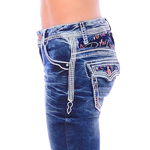 Cipo & Baxx Damen Denim Slim Fit Jeans WD 243 (28/32)