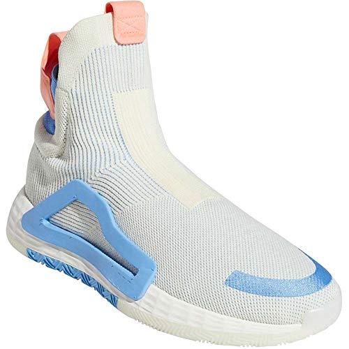 adidas Men's N3XT L3V3L Baseball Shoe, Cream White/White/Bahia Light Blue, 12 Medium US