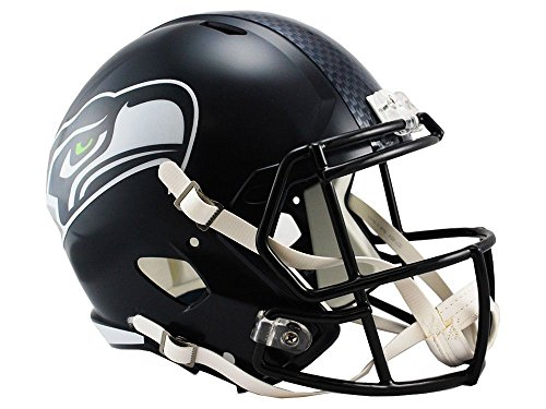 - Riddell NFL Seattle Seahawks Full Size Replica Speed Helmet, Medium, Green