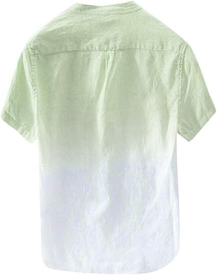 MOTOCO Hombre Summer Top/Camiseta con Cuello en O Casual/Botón ...