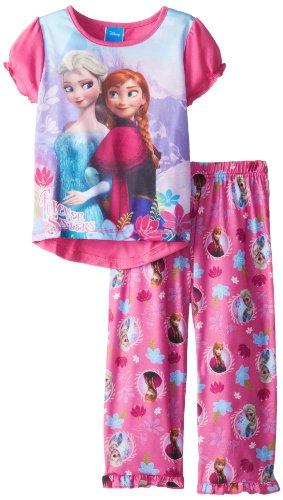Komar Girls 7-16 Frozen Anna and Elsa Pajama Set