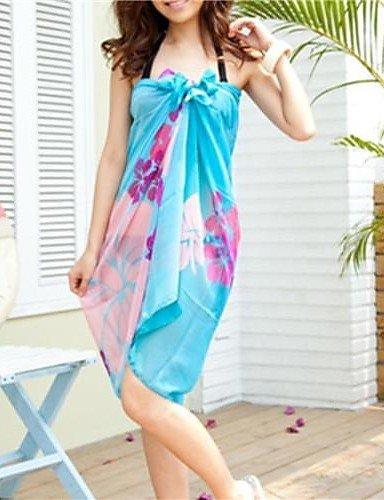 skt-swimwear Damen zudecken, Floral Chiffon Mehrfarbig