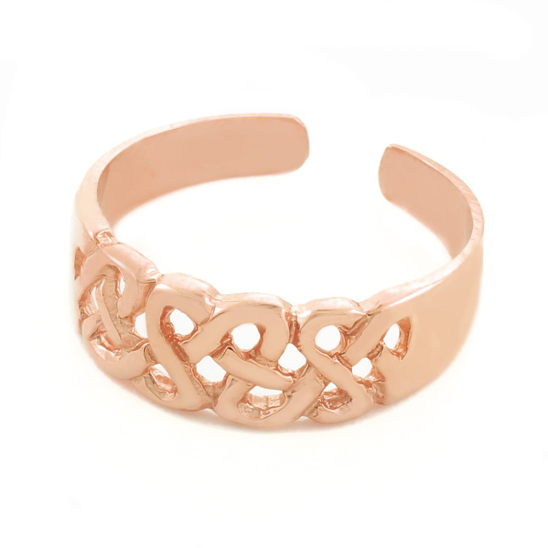 14k Rose Gold Trinity Knot Toe Ring