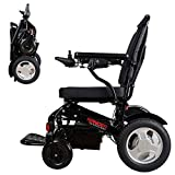 Porto Mobility Ranger D09-S XL #1 Best Rated Lightweight Foldable Exclusive Electric Wheelchair, Dual Motor, Dual Battery Airplane Ready Portable Electric Wheelchair (XL Wider Seat (Black))