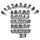Uxcell a16032800ux0040 37 Letters Numbers Alphabet Cutter Set Cake Decorating Gateau Marzipan Fondant for Christmas DIY Maker