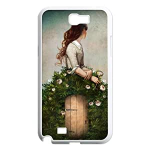 Samsung Galaxy N2 7100 Cell Phone Case White the key to her secret garden KYS1120230KSL