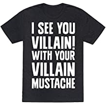 Villain Mustache Mens/Unisex Fitted Triblend Tee by LookHUMAN