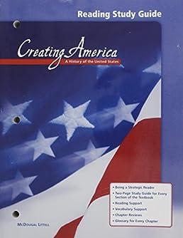 amazon com creating america reading study guide 9780618036912 rh amazon com creating america reading study guide answers creating america reading study guide answer key