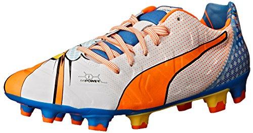 Puma Evopower1.2popfg fútbol Grapa White/Orange Clownfish/Electric Blue Lemonade