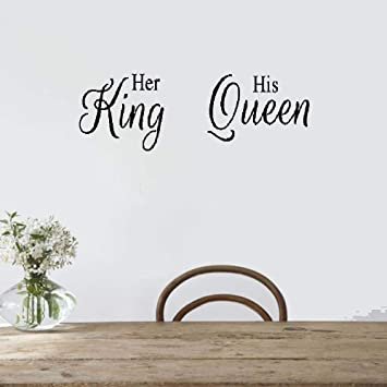 Amazoncom Ok Decal Motivational Wall Sticker Quotes Her King His