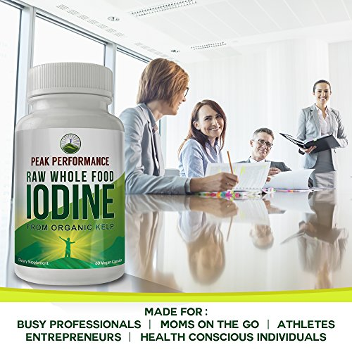 Raw Whole Food Iodine From Organic Kelp (Ascophyllum Nodosum) By Peak Performance. Thyroid Support Supplement. Great For Metabolism, Energy and Immune Boost - 60 Vegan Capsules by Peak Performance Coffee (Image #6)