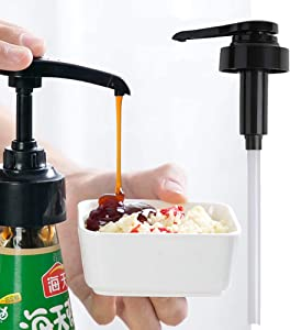 Syrup Bottle Nozzle, Pressure Oil Sprayer, Household Pump Push-type, Sauce Plastic Pump - with Long Dip Tubes - for Oyster Oil Jam Ketchup Bottles -Type