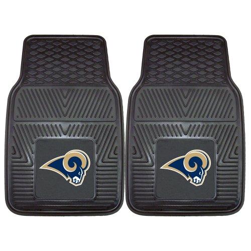 - Fanmats 8906 NFL-Los Angeles Rams Vinyl Universal Heavy Duty Fan Floor Mat