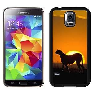 African Leopard Sunset Grassland Landscape Durable High Quality Samsung Galaxy S5 Case