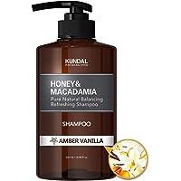 [KUNDAL] Honey & Macadamia Pure Natural Balancing Refreshing Shampoo 500ml (Amber Vanilla)