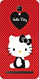 Shengshou Hello Kitty Design Mobile Back Cover for Micromax Bolt Q331 - Red