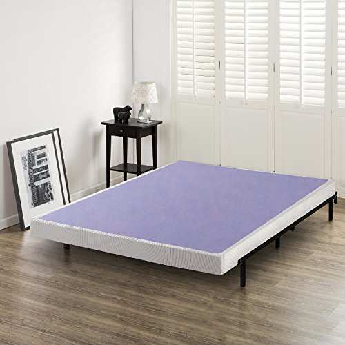 Zinus Edgar 4 Inch Low Profile Wood Box Spring / Mattress Foundation, Queen