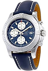 Breitling Colt Chronograph Automatic Blue Dial Blue Leather Mens Watch A1338811-C914BLLD