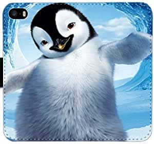 Pingüino K3Y7P Funda iPhone 6 6S Plus 5.5 caja de la carpeta de cuero linda funda Caso 4M7jK3 Teléfono Móvil Flip funda activa duro