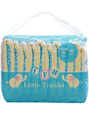 LittleForBig Printed Adult Brief Diapers Adult Baby Diaper Lover ABDL 2 Pieces - Little Trunks-M (Medium)