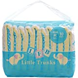 LittleForBig Printed Adult Brief Diapers Adult Baby Diaper Lover ABDL 10 Pieces - Little Trunks(Large)