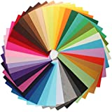 KINGSO 42PCS Assorted Color Felt Fabric Sheets Patchwork Sewing DIY Craft 20*30cm