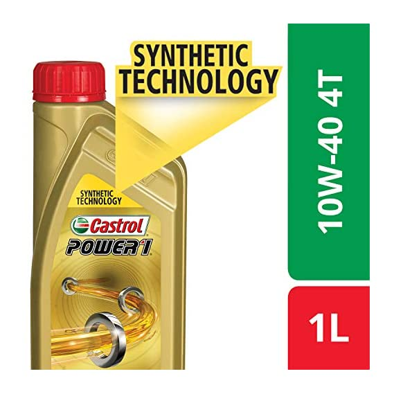 Castrol POWER1 4T 10W-40 API SN Synthetic Engine Oil for Bikes (1L)