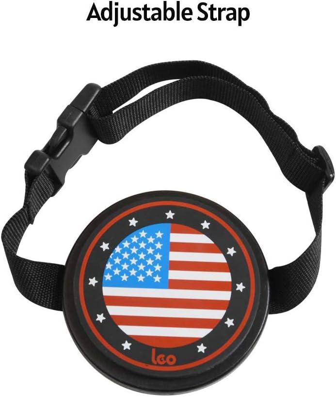 KTOO Silent Drum Pad dentra/înement de tambour muet en /érable de 4 pouces portable avec sangle pour batteurs