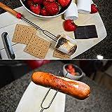 Ajmyonsp Marshmallow Roasting Sticks with Wooden