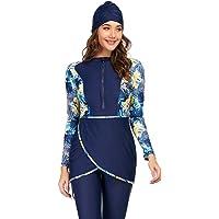 Muslimska baddräkter för kvinnor 3 delar långärmad modesta badkläder islamisk arabisk baddräkt Hijab Burkini
